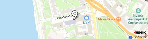 Псковская областная универсальная научная библиотека на карте Пскова