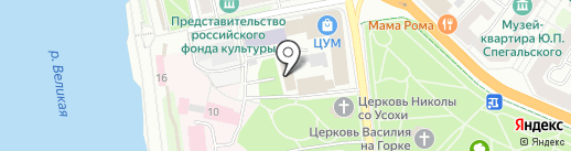 ЧеТВ на карте Пскова