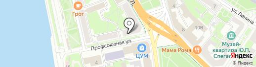 Фунт на карте Пскова