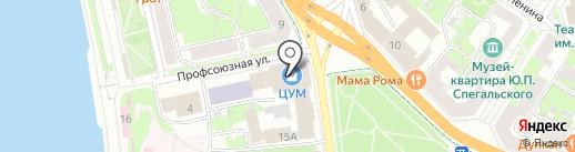 Бонапель на карте Пскова