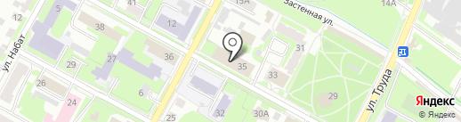 Псковское социально-реабилитационное предприятие Всероссийского общества глухих на карте Пскова