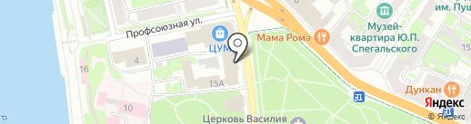 Пушкиногорье на карте Пскова
