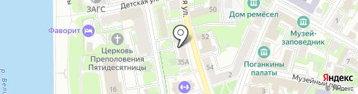 Союз пенсионеров России на карте Пскова