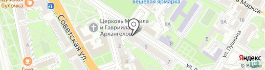 Музей-квартира В.И. Ленина на карте Пскова