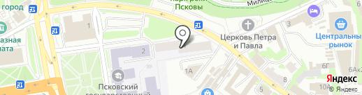 Общежитие на карте Пскова