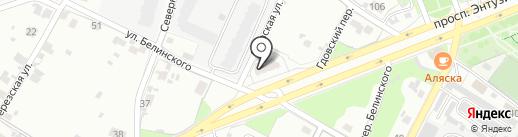 Псковская Инвестиционная Компания, ЗАО на карте Пскова