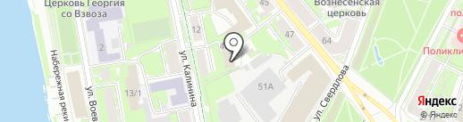 Управление Федеральной службы по надзору в сфере связи, информационных технологий и массовых коммуникаций Псковской области на карте Пскова