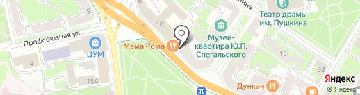 Колокольчик на карте Пскова