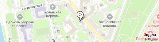 Городской стиль на карте Пскова