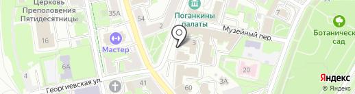 Двор Подзноева на карте Пскова