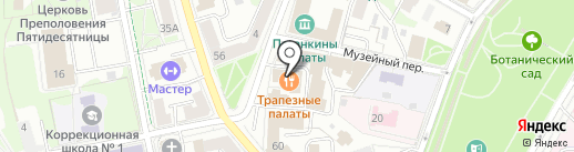 Трапезные палаты Двора Подзноева на карте Пскова
