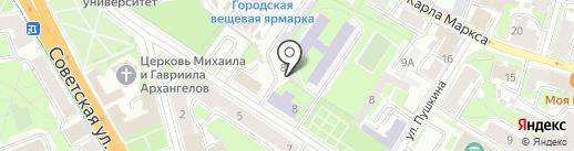 Феррум на карте Пскова