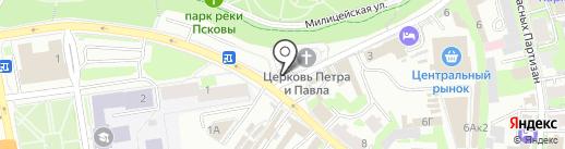 Церковная лавка на карте Пскова