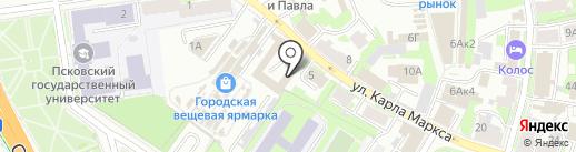 Росприроднадзор на карте Пскова
