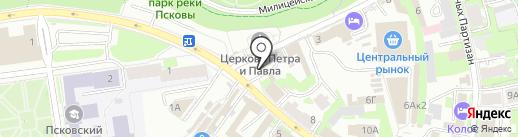 Церковная лавка Казанской иконы Божией Матери на карте Пскова