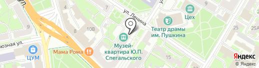 Дукас на карте Пскова