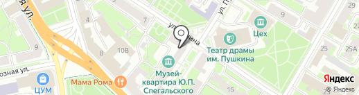 Формат М на карте Пскова