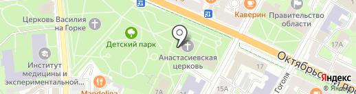 Церковь Анастасии Узорешительницы на карте Пскова