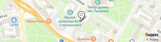 Гуманитарный лицей на карте Пскова