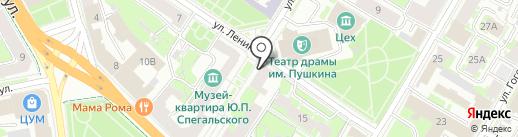 Государственный комитет Псковской области по культуре на карте Пскова