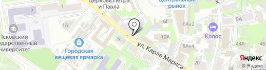 Qiwi на карте Пскова