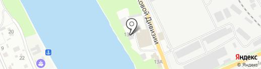 Седьмой район на карте Пскова