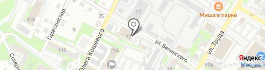 АвтоСила на карте Пскова