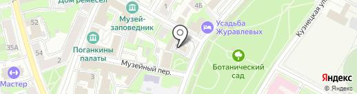 Псковский кузнечный двор на карте Пскова