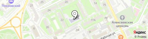 Детский сад №20 на карте Пскова