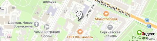 Автолюбитель на карте Пскова