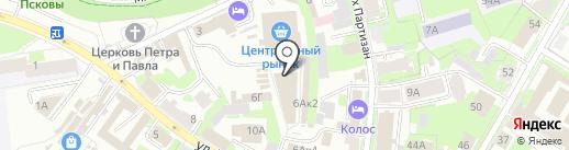 Тёма на карте Пскова
