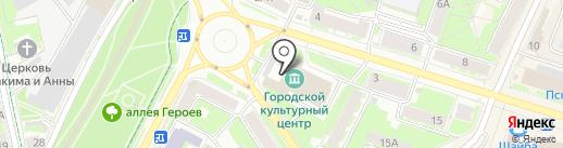 Сказ на карте Пскова
