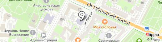 Псковский институт повышения квалификации работников образования на карте Пскова