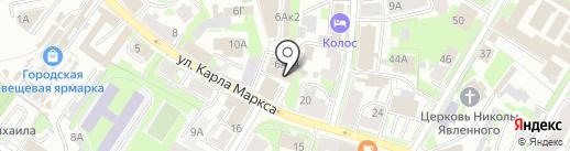 Снежана на карте Пскова