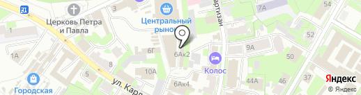 Колор на карте Пскова