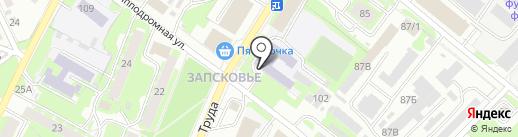 Автошкола на карте Пскова