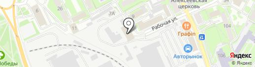 Базис на карте Пскова