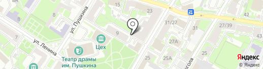ЖЭУ-1 на карте Пскова