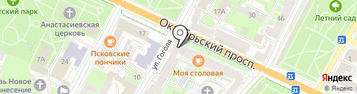 Fit Line на карте Пскова