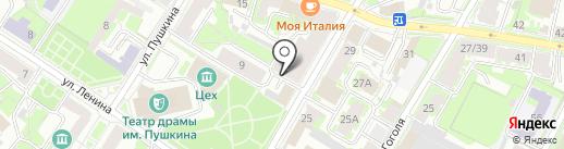 Салон красоты на Некрасова на карте Пскова