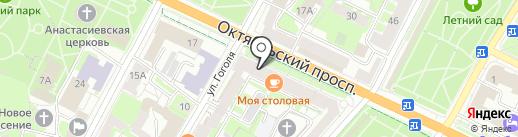 Анкор на карте Пскова