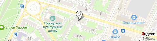 Нотариус Царева Л.М. на карте Пскова
