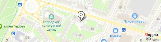 Адвокатский кабинет Волкова А.В. на карте Пскова