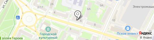 КУПИР на карте Пскова