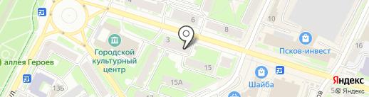 Псковоблстрой на карте Пскова