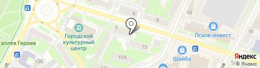 Рюмочная на карте Пскова