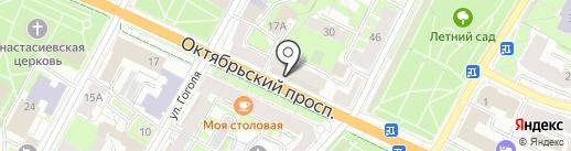 Гравировальная мастерская на карте Пскова