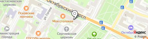 Центр кредитования и сбережений, КПК на карте Пскова