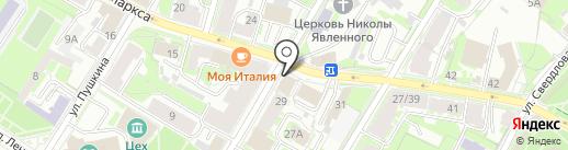 Псковский женский клуб на карте Пскова