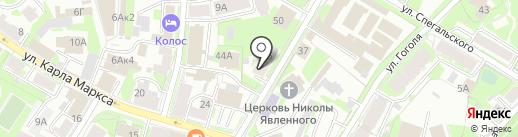Зал регистрации брака на ул. Некрасова на карте Пскова